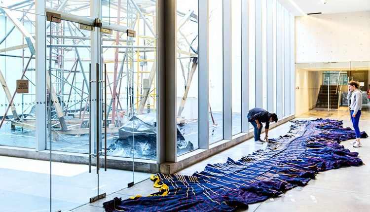 Knitted shell holds up 5-ton curved concrete structure | Digital Science