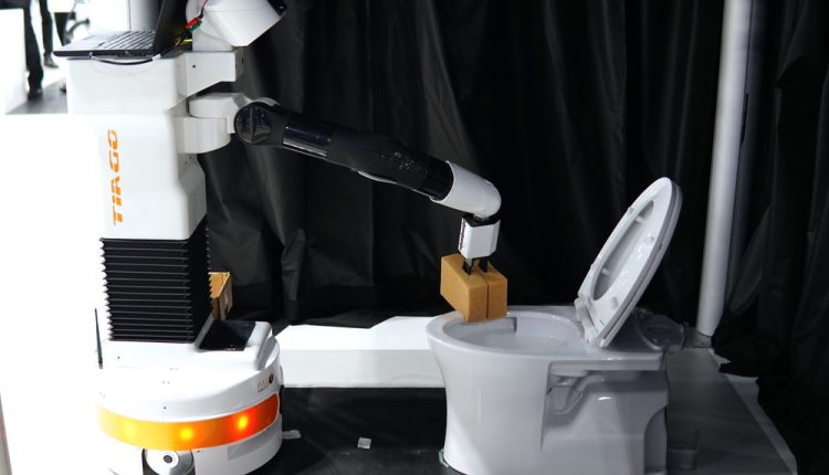 Robots Finally Learning to Clean the Bathroom