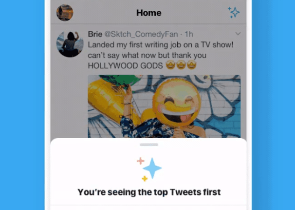 Twitter tests homescreen button to easily switch to reverse chronological | Apps