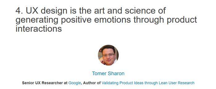 Tomer Sharon on what is Ux