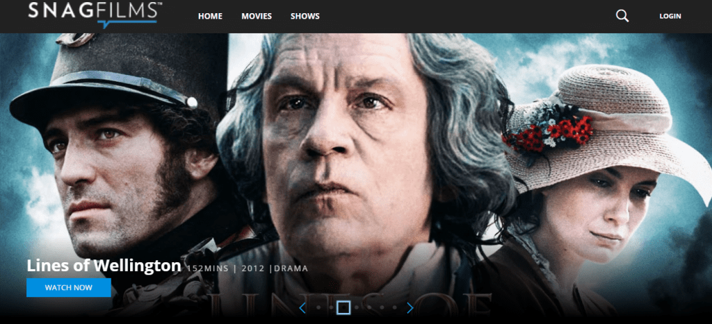 Snagfilms 1024x467 - 15+ Best 123Movies Alternatives To Watch Movies For Free