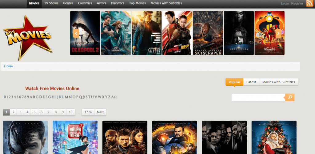 Los Movies 1024x503 - 15+ Best 123Movies Alternatives To Watch Movies For Free