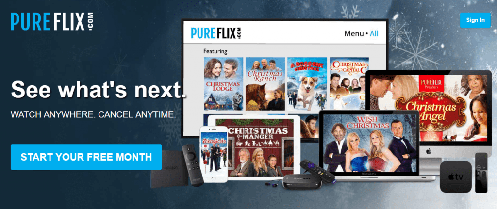 Pureflix 1024x431 - 15+ Best 123Movies Alternatives To Watch Movies For Free