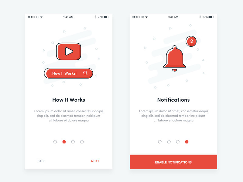 onboarding subscribe ui