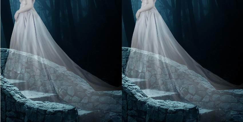 fantasy digital art - model dress details