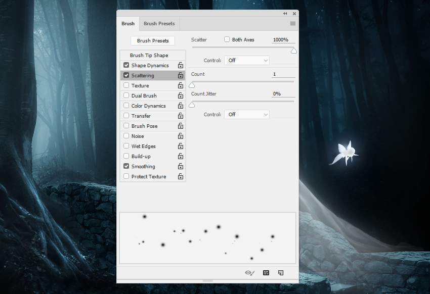 fantasy digital art - dots brush settings 3