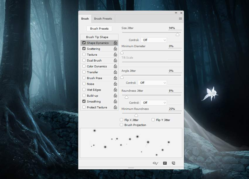 fantasy digital art - dots brush settings 2