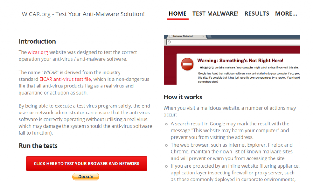 Check Whether Your Antivirus Working Perfectly Or Not