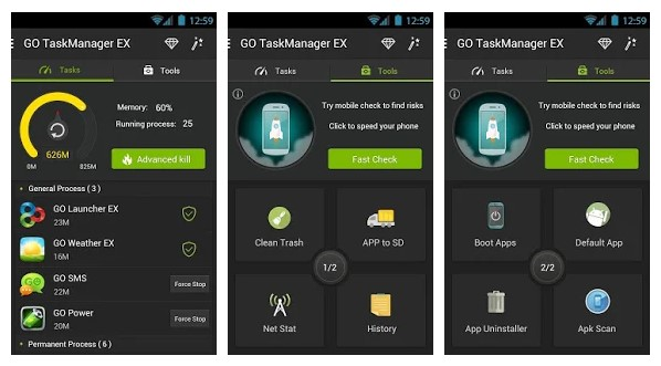 Go Cleaner Task Manager - Top 10 Best Task Manager Apps For Android (Latest)
