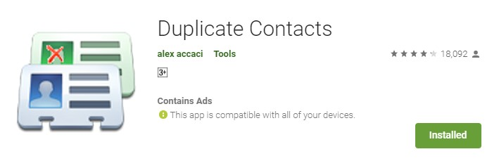 Using Duplicate Contacts