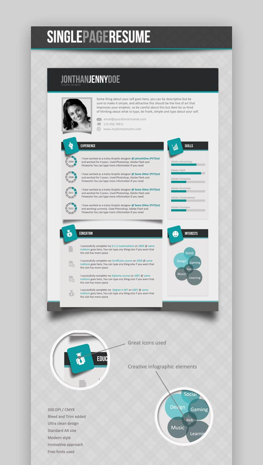 Clean Single Page Resume