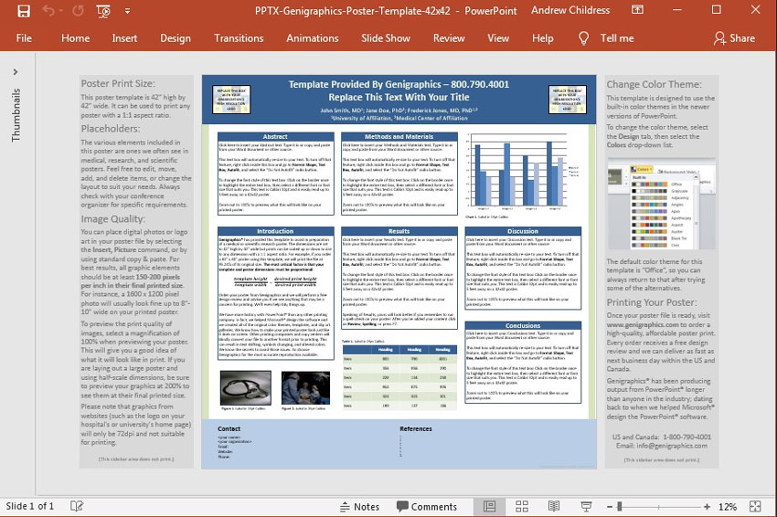 Research Posters PowerPoint template