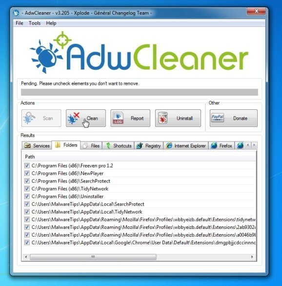 Using AdwCleaner