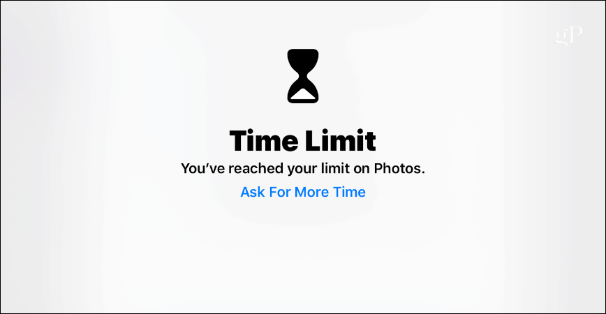 Time Limit Screen Time iOS 12 iPad