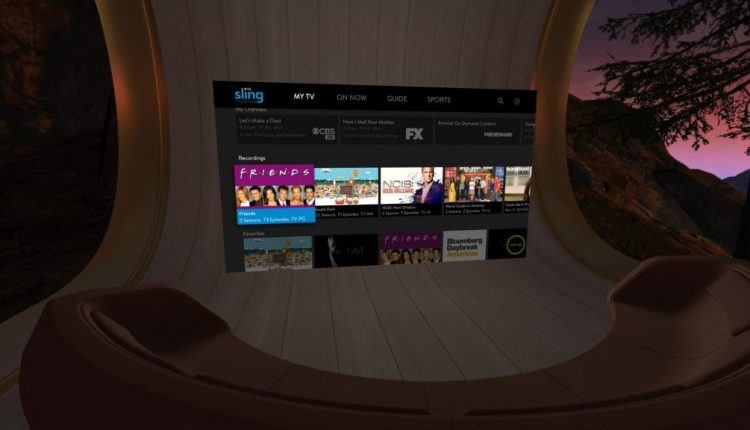Sling TV Launches vMVPD for Oculus Go Virtual Reality Headset