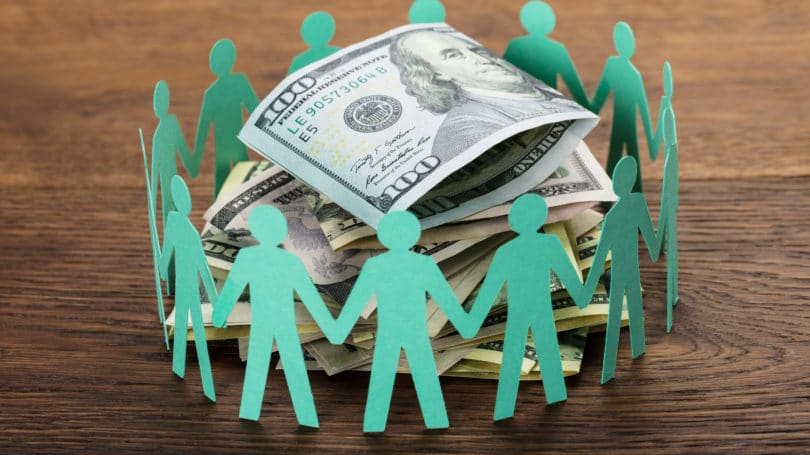 Crowdfunding Concept People Investing Money Together