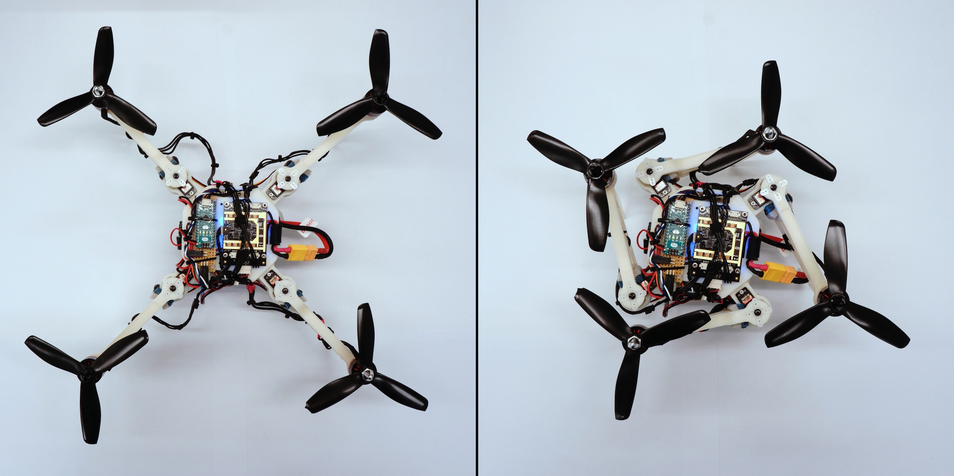 Foldable Drone Changes Its Shape in Mid-Air