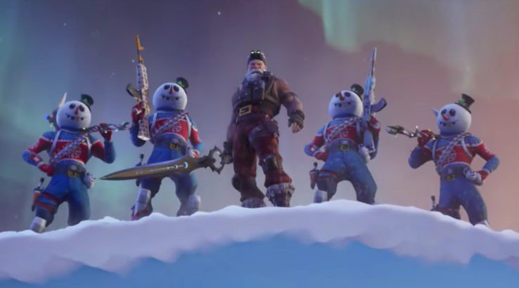 fortnite sgt winter with infinity blade