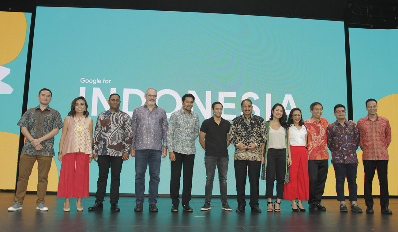 Keynote speakers at the Google for Indonesia event