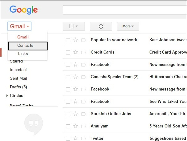 Using Gmail To Merge Contacts