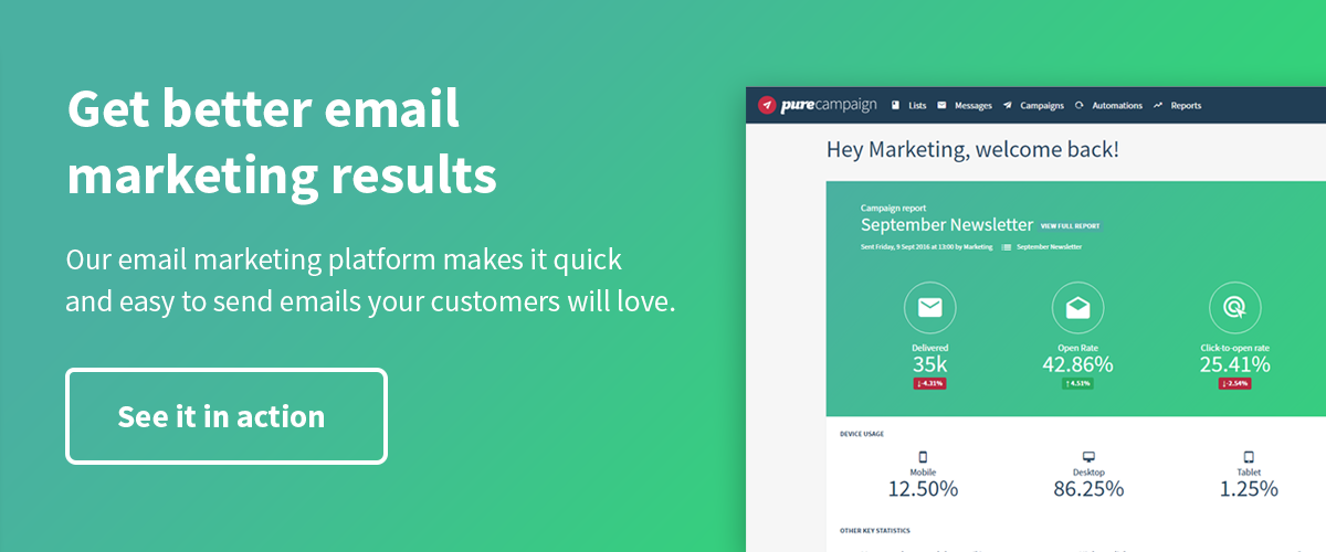 Get better email marketing results