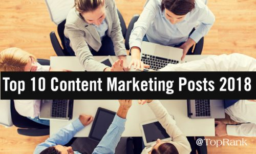 Top 10 Content Marketing Post of 2018 High Five Group Image