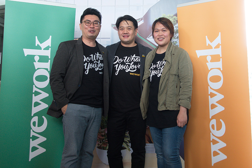 (From left) WeWork Southeast Asia MD Turochas