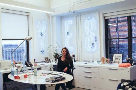 Val DiFebo, CEO of Deutsch New York, has a neon