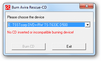 Using Avira Rescue CD