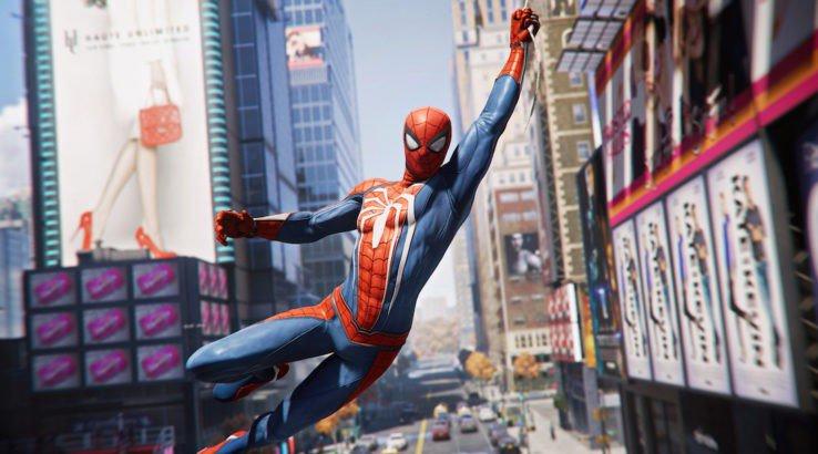 spidey swinging through new york