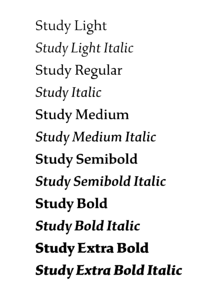 font design xyz-study-07-styles