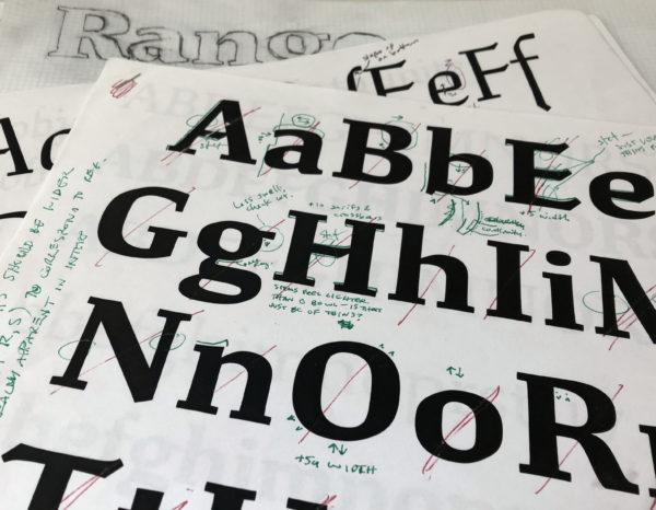 font design Ragan-Study-proof-glyph-art2