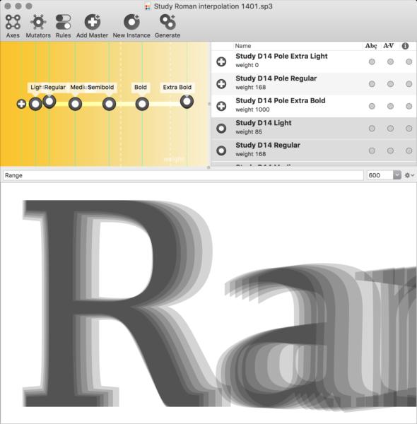 font design Ragan-Study-interpolating-Superpolator-5