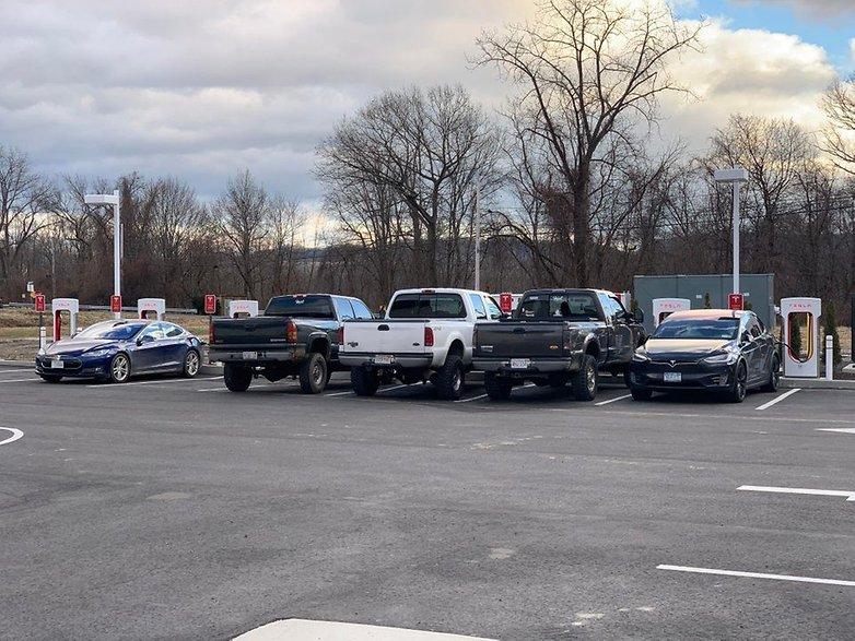 Tesla Supercharger pickup truck