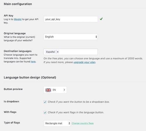 Wordpress Multilingual Configuration