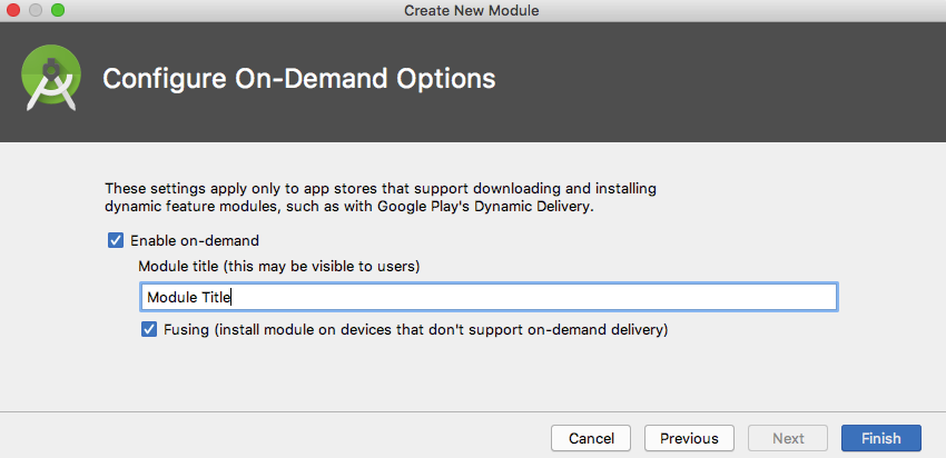Select the Enable on-demand and Fusing checkboxes