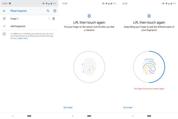 google pixel imprint