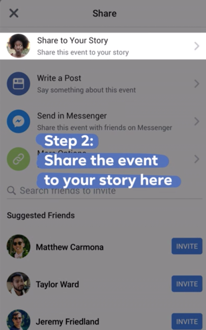 Facebook adds option to share events to Stories