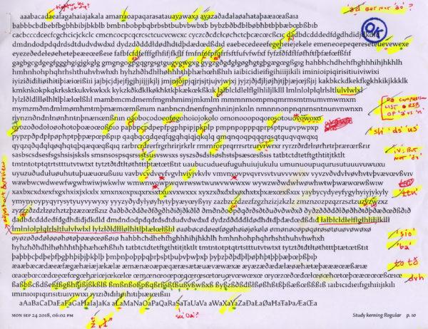 font design Ragan-Study-proof-kern-Regular