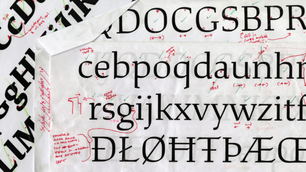 font design Ragan-Study-proof-glyph-art1