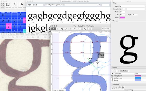 font design Ragan-Study-drawing-Robofont-2
