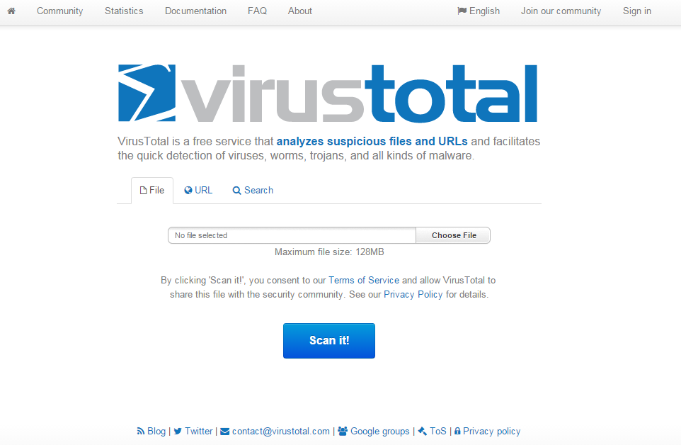 Scan Files & Url Without Any Antivirus Installed