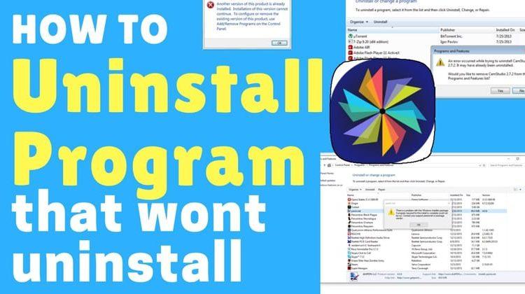 Remove a stubborn program in Windows