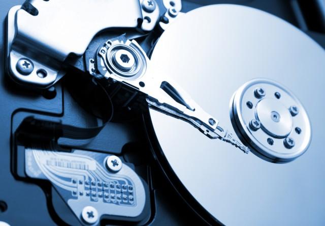 A pretty hard drive photo