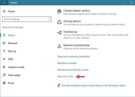 Completely Reset Network Settings on Windows 10