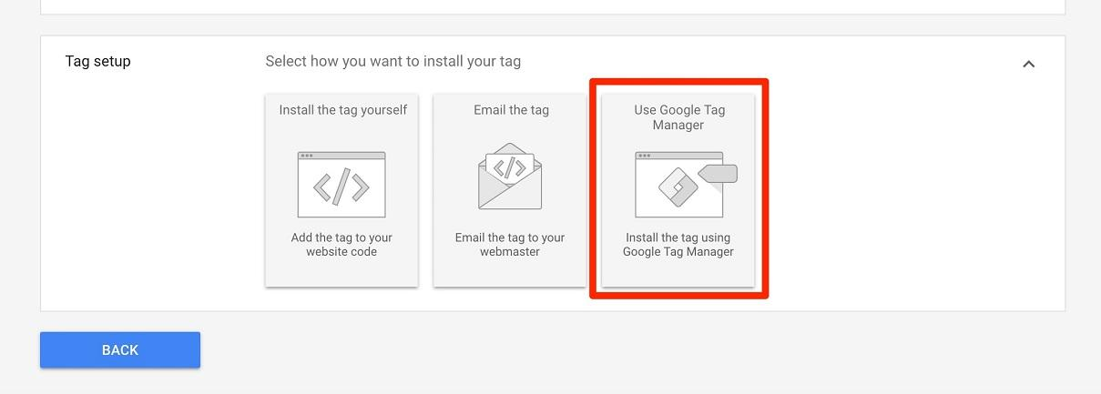 choose to install using Google Tag Manager