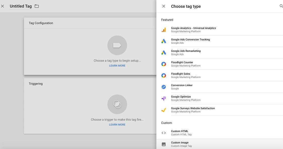 Google Tag Manager home