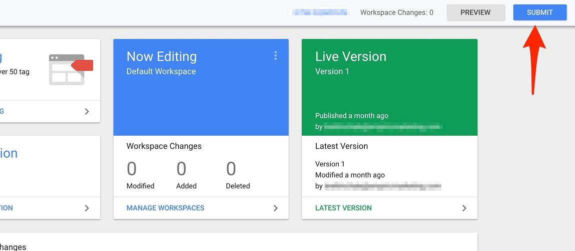 push tag manager live