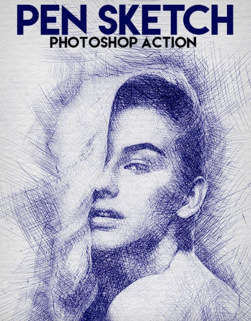 Pen Sketch PS Action
