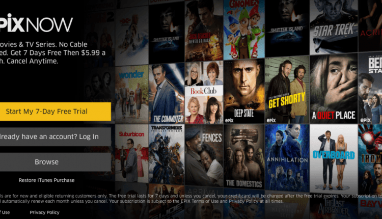 EPIX launches standalone streaming service available on iOS & Apple TV